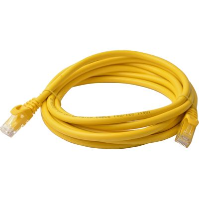 8 Ware Cat 6a UTP Ethernet Cable; Snaglessÿ - 3m Yellow