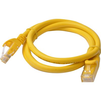 8 Ware Cat 6a UTP Ethernet Cable; Snaglessÿ - 1m (100cm) Yellow