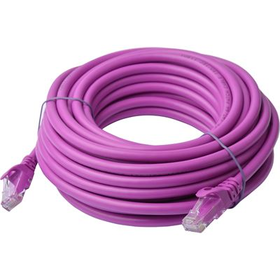8 Ware Cat 6a UTP Ethernet Cable; Snaglessÿ - 10m Purple