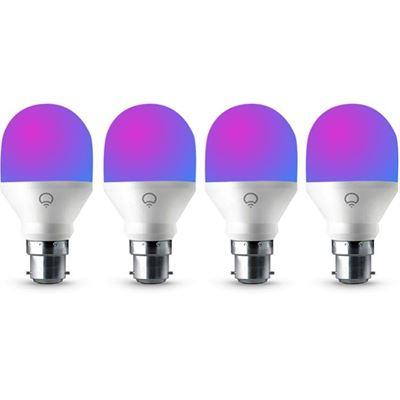 LIFX 4 Pack LIFX Mini Colour WiFi LED Light Bulb B22 Socket