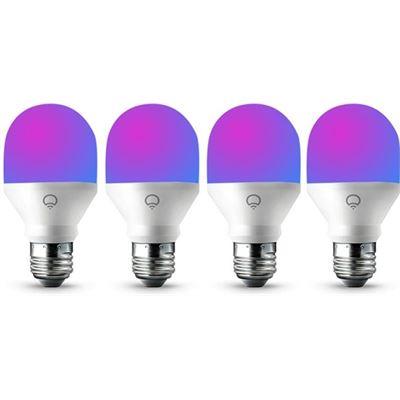 LIFX 4 Pack LIFX Mini Colour WiFi LED Light Bulb E27 Screw