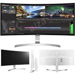 """LG 38UC99-W 38"""" 21:9 UltraWide WQHD+ ( 3840 x 1600 ) IPS Curved LED Monitor , 5ms"""