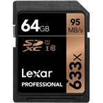 Lexar Professional 64GB SDXC, U1 , 633x, up to 95MB/s , Shoot high-quality images and