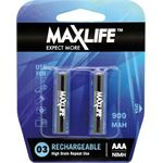Photo of Maxlife AAA Rechargeable Battery NIMH 900MAH 2 Pack