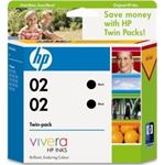 HP 02 Black Ink Cartridge Twin Pack