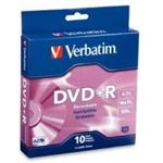 Verbatim DVD+R 10pk Spindle - 4.7GB 16x