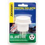 Jackson Industries JACKSON Outbound Travel Adaptor. Converts NZ/Aust Plugs for use in USA & Canada