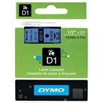 Photo of Dymo Easy Peel Split Back 12mm D1 Tape/ 12mm X 7m/ Black on Blue/ Single cassette