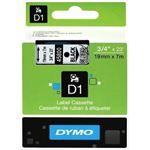 Photo of Dymo Easy Peel Split Back 19mm D1 Tape/ 19mm X 7m/ Black on Clear/ Single cassette