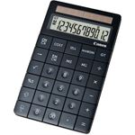 Photo of Canon XMARK1BK Stylish black desktop calculator with edge to edge buttons and smooth