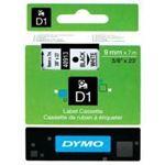 Photo of Dymo Label Tape D1 9mm x 7m Black on White