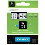 Photo of Dymo D1 LABEL CASSETTE 19mm x 7m - BLACK ON WHITE