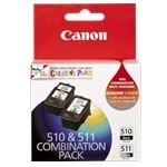 Canon PG510CL511CP 1 x PG510 Black Ink Cartridge & CL511 Colour Ink Cartridge