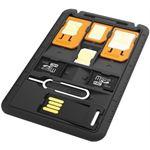 Promate 8-in-1 Sim Card Holder. 3x Sim card converters & Storage slots , 2x TF Card Slots. SIM Eject