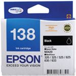 Epson 138 High Capacity Black ink cartridge Workforce 840 633 630 625 525 60 325 320