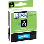 Photo of Dymo DSD45804 - Dymo Blue on Wht 19mmx7m Tape