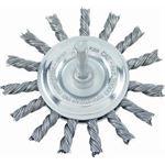 Jaz CAE9388 Twist Knot Wheel 75mm Coated Steel .5mm Coarse 6mm Shank Loose