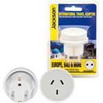 Jackson Industries JACKSON Outbound Travel Adaptor. Converts NZ/Aust Plugs for use in Europe &