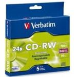 Verbatim CD-RW 5pk Slim Case 80min 16-24x UltraSpd