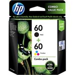 HP 60 Print Cartridge Combo Pack