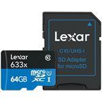 Photo of Lexar High-Performance microSDHC 64GB 633x W SD Reader