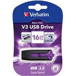 Verbatim Store'n'Go V3 USB 3.0 Drive 16GB (Violet)
