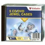 Verbatim CD/DVD 5pk Empty Jewel Cases