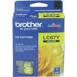 Photo of Brother LC67 Yellow Ink Cartridge