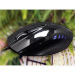 E-BLUE *E-BLUE Wired USB Blue Sensor Mouse 1480 DPI, Black Coloured