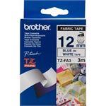 Photo of Brother TZEFA3 : Iron on Fabric Tape Blue on White
