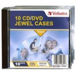 Verbatim CD/DVD 10pk Empty Jewel Cases