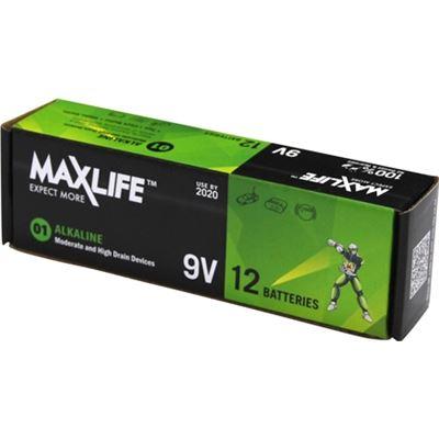 Maxlife 9V Alkaline Battery 12 BULK Pack
