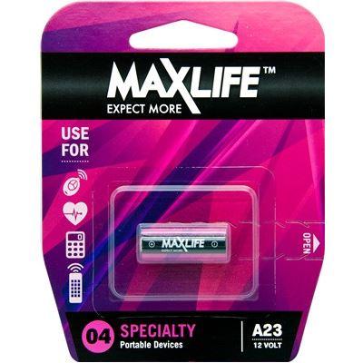 Maxlife A23 Alkaline 12V Battery. 1Pk (BATA23)