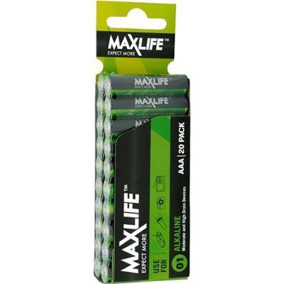 Maxlife AAA Alkaline Battery 20 Pack ** XMAS SALE PRODUCT