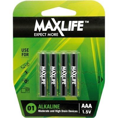 Maxlife AAA Alkaline Battery 4 Pack ** XMAS SALE PRODUCT