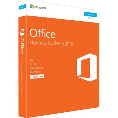 Microsoft Office Home and Business 2016Win English Medialess P2