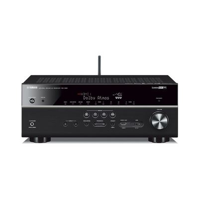 Yamaha RX-V681  7.2-channel AV Receiver compatible with MusicCast and major streaming services for extensive listening choices, plus Dolby Atmos® and DTS:X™ support and HDMI® with support for 4K60p (4:4:4), HDCP2.2, HDR and BT.2020. A Phono input is included.