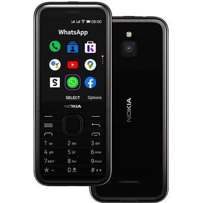 Nokia 8000 4G Black 2.8' Screen,4GB Memory, 512 MB RAM, 2MP Rear Camera, Dual SIM
