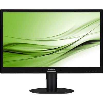 """Philips 24"""" W LED , BLACK, VGA/DVI-D/DP, 1920x1080 , USB x 2, SPEAKERS, 5MS, 20M :1 DCR"""