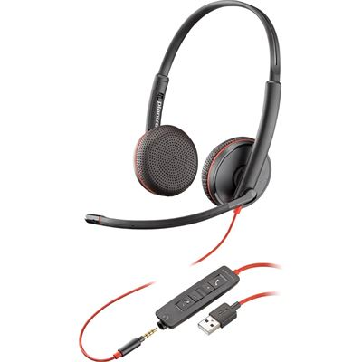Poly Blackwire C3225 Stereo USB-A UC Headset