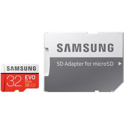Samsung MICRO SD 32GB EVO PLUS/W ADAPTER 95MB/S READ 20MB/S WRITE 10 YEARS LIMITED