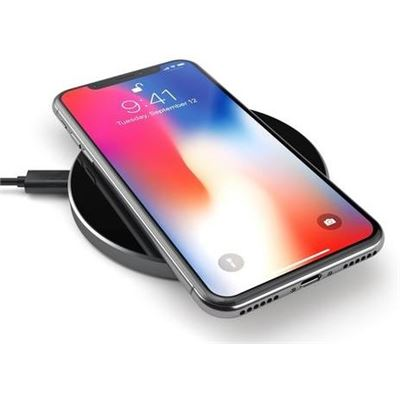 Satechi Aluminium Fast Wireless Charger (Space Grey) Qi Qi Standard compatible with