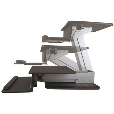 StarTech Sit-to-Stand Workstation - with Pneumatic Spring for One-Touch Height Adjustment