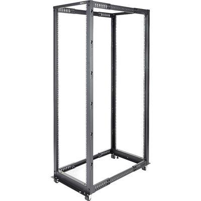 StarTech.com 42U Adjustable Depth Open Frame 4 Post Server Rack Cabinet - Flat Pack w/
