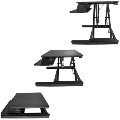StarTech.com StarTech Sit Stand Desk Converter - With Large 35in Work Surface - Height