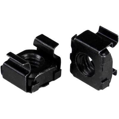 StarTech.com M5 Cage Nuts - 100 Pack - M5 Nuts - 100 Pack Black - M5 Mounting Cage Nuts for