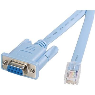 StarTech.com 6 ft RJ45 to DB9 Cisco Console Management Router Cable - M/F