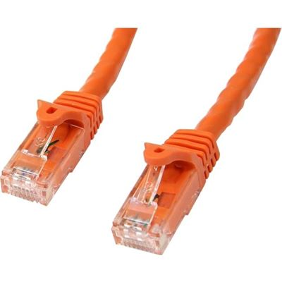 StarTech.com 1m Orange Gigabit Snagless RJ45 UTP Cat6 Patch Cable - 1 m Patch Cord
