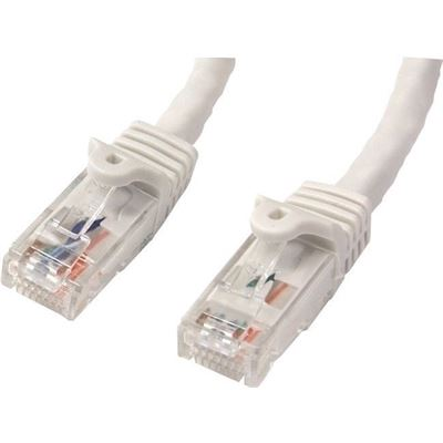 StarTech.com 1m White Gigabit Snagless RJ45 UTP Cat6 Patch Cable - 1 m Patch Cord - Ethernet