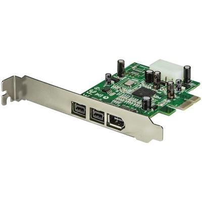StarTech.com 3 Port 2b 1a 1394 PCI Express FireWire Card Adapter - 1394 FW PCIe FireWire 800